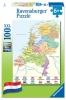 , Puzzel Ravensburger Nederlandse kaart 100 stukjes
