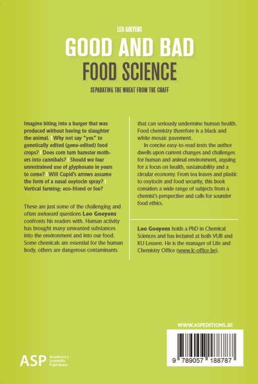 Leo Goeyens,Good and Bad Food Science