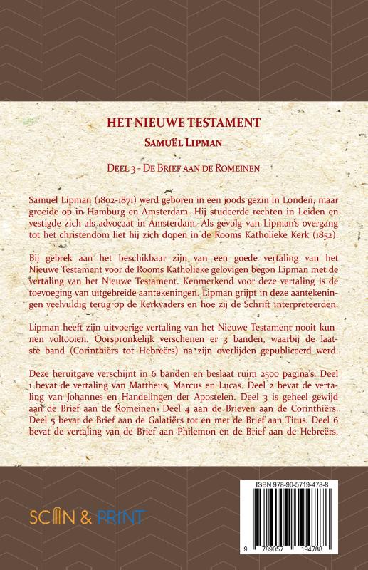Samuël Lipman,De Brief aan de Romeinen