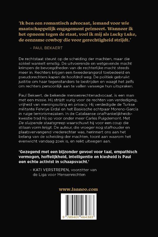 Paul Bekaert,De sluipende staatsgreep