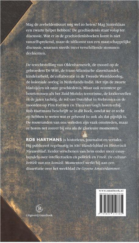 Rob Hartmans,Zwarte bladzijden uit de vaderlandse geschiedenis