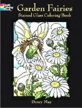 Darcy May Garden Fairies Stained Glass Coloring Book