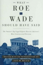 What Roe V. Wade Should Have Said