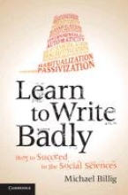 Prof. Michael Billig Learn to Write Badly