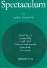 Beckett, Samuel Spectaculum 77. Sechs moderne Theaterstücke