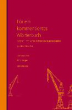 Raimondi, Sergio F�r ein kommentiertes W�rterbuch