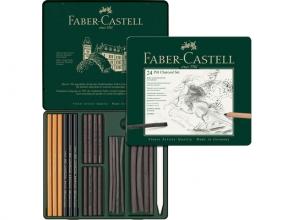 Fc-112978 , Faber-castell pitt houtskoolset potloden en staafjes