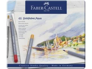 , aquarelkleurpotlood Faber-Castell Goldfaber etui 48 stuks