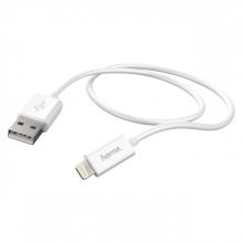 , Kabel Hama USB Lightning-A 2.0 1 meter wit