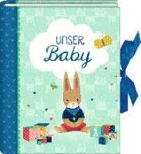 Kleines Foto-Einsteckalbum - Unser Baby (Kleines Wunder, hellblau)