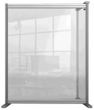 , Bureauscherm uitbreidingspaneel Nobo Modulair transparant acryl 800x1000mm
