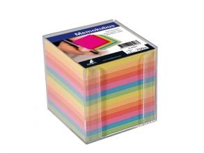 , Memokubus Kangaro 90x90mm transparant assorti kleuren 700vel