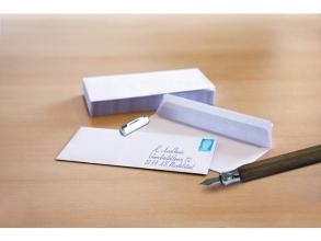 , dienstenvelop Raadhuis 110x220mm DL (EA5/6) wit met         plakstrip doos a 500 stuks