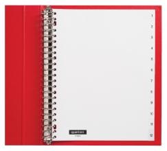 , Tabbladen Quantore 23-gaats 1-12 genummerd wit PP