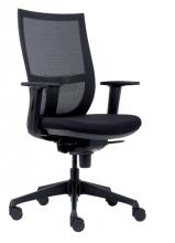 , Bureaustoel Euroseats Curve kunststof voetenkruis zwart