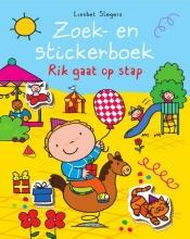 Liesbet  Slegers Rik Zoek en stickerboek Rik gaat op stap