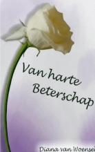 Diana van Woensel Van harte beterschap....