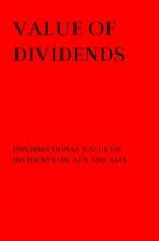 A.M. Schmitt , Value of Dividends