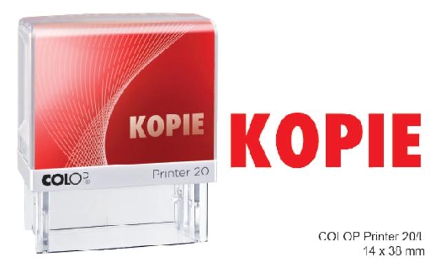 ,Woordstempel Colop Printer 20 kopie rood