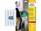 ,Ultra-heavy duty Avery etiket 45,7x21,2mm wit 10vel 48 et.per vel