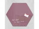,glasmagneetbord Sigel Artverum 400x460x15mm zeskantig rood