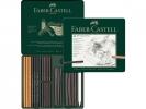 <b>Fc-112978</b>,Faber-castell pitt houtskoolset potloden en staafjes