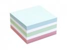 ,Memoblok Info Notes kubus 75x75mm pastel assorti 400vel