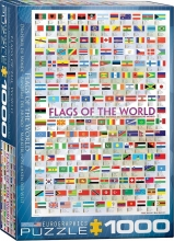 Eur-6000-0128 , Puzzel flags of the world - eurographics - 1000 stuks