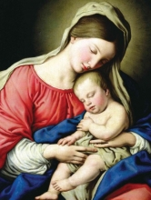 Virgin and Child Holiday Full Notecards