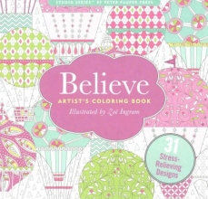 Believe Adult Coloring Book (31 Stress-Relieving Designs)