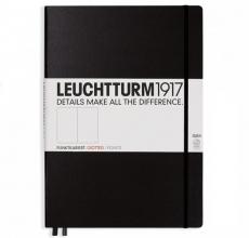 , Leuchtturm notitieboek master slim a4 pionts/ bullets zwart