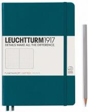 Lt359704 , Leuchtturm pocket notitieboek 90x150 dots/puntjes pacific blauw/groen