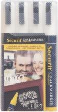 , Krijtstift Securit SMA-510 schuin wit 2-6mm blister à 4st