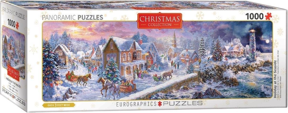 Eur-6010-5318,Puzzel (kerst)  holiday at the seaside- eurographics 1000 stuks 96x 32 cm