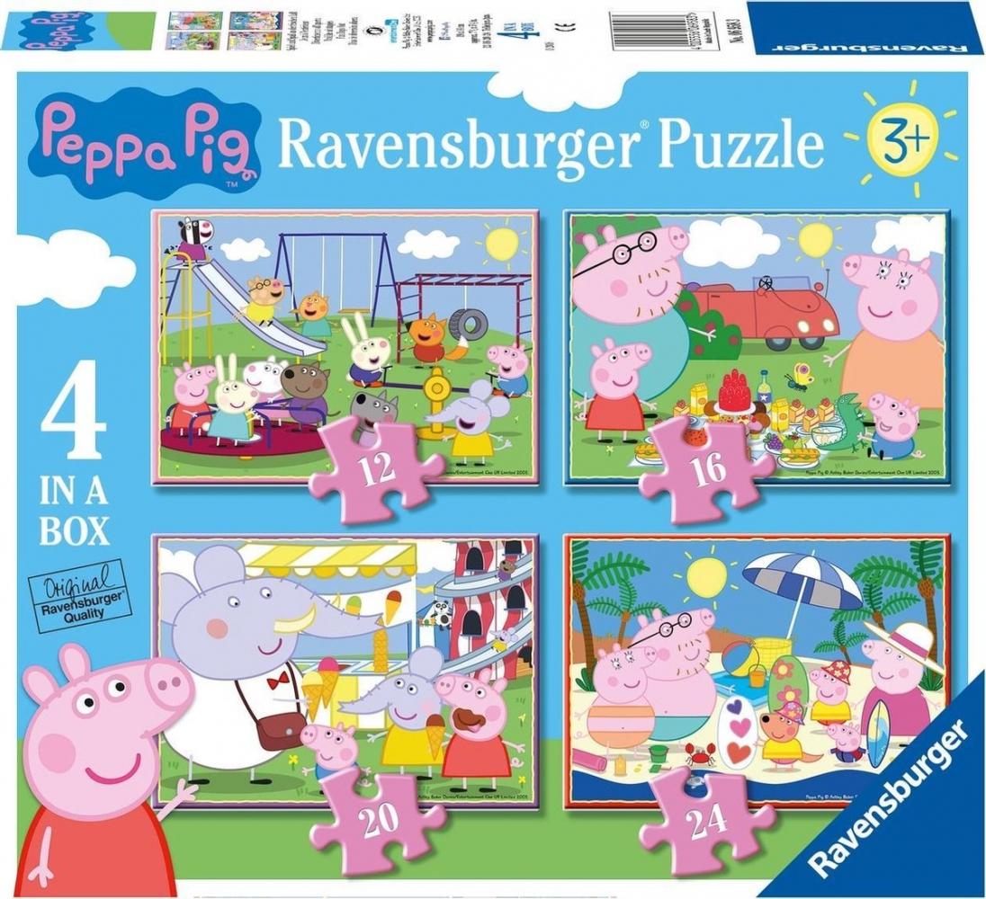 ,Puzzel ravensburger - peppa pig ( stukjes van 12/16/20/24 ) 4 in een box