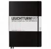 ,<b>Leuchtturm notitieboek master slim a4 pionts/ bullets zwart</b>