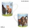 , Horses dreams beker porseleinmet gouden print