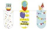 Mos-31128 , Magnetische boekenlegger set 3 stuks happy birthday
