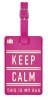 , Kofferlabel roze keep calm
