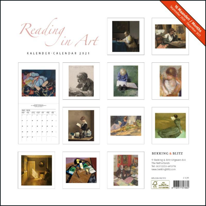 ,Reading in Art maandkalender 2021