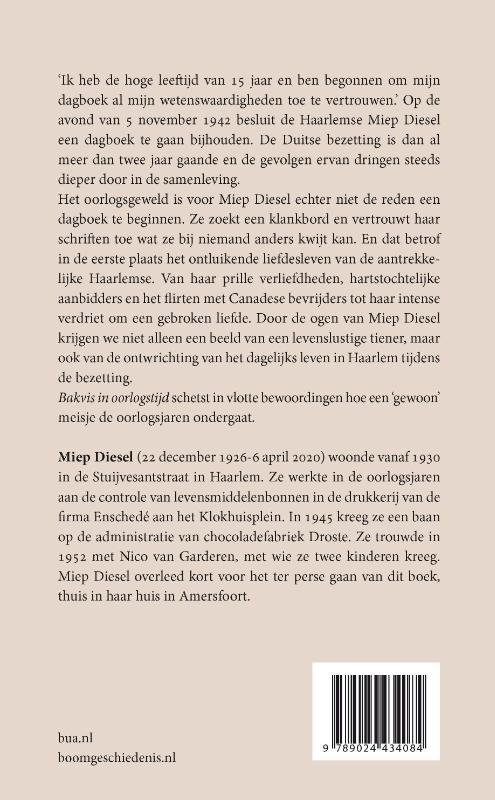 Miep Diesel,Bakvis in oorlogstijd