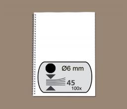 , Draadrug Fellowes 6mm 34-rings A4 zwart 100stuks