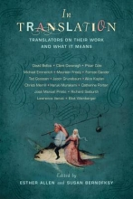Allen, Esther In Translation - Translators on Their Work and What It Means