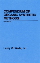 Jr., Wade, Leroy G. Compendium of Organic Synthetic Methods