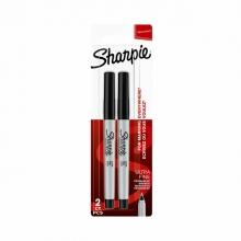 , Viltstift Sharpie rond 0.5mm zwart blister à 2 stuks