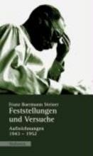 Steiner, Franz Baermann Feststellungen und Versuche