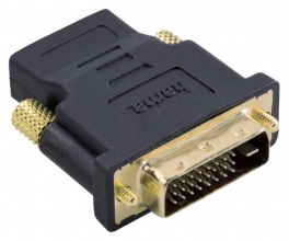 , Adapter Hama HDMI-DVI/D zwart