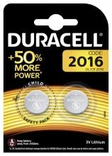 , Batterij Duracell knoopcel 2xCR2016 lithium Ø20mm 3V-90mAh