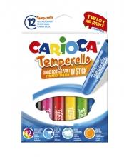 , Plakkaatverf Carioca Temperello set à 12 sticks