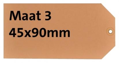 , Label karton nr3 200gr 45x90mm chamois 1000stuks